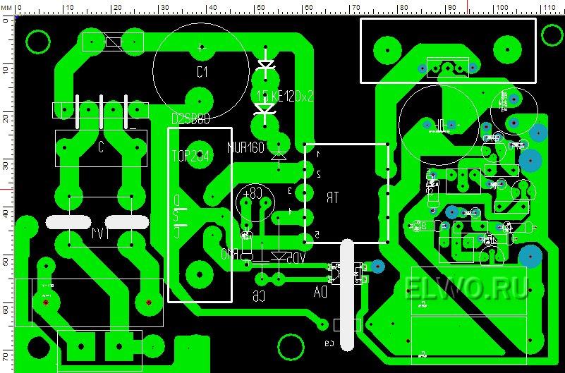 skhema zarjadnoe 12 volt 2 - Схема зарядного устройства импульсным током