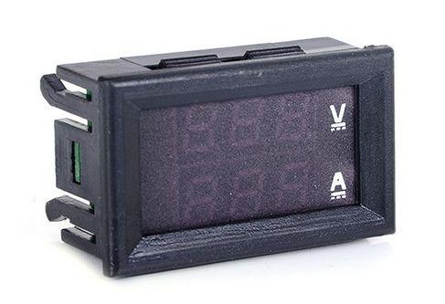компактный цифровой ампер - вольт метр