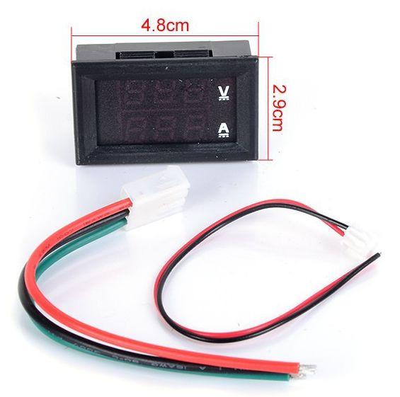 Подключение - цифровой ампер - вольтметр