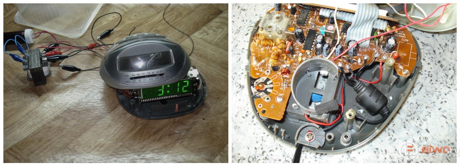 Разборка и ремонт радио-часов