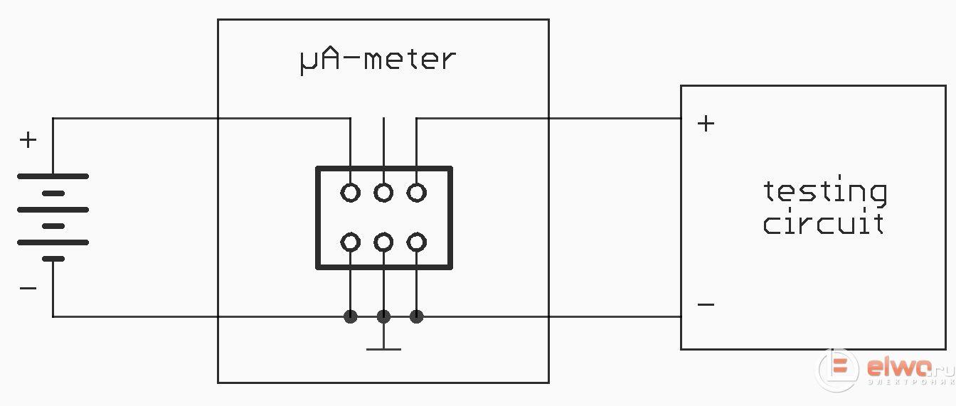 Схема подключения микроамперметра